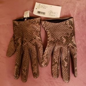 Brand Imoni Intermix Leather Gloves in Brown